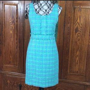 Laundry by Shelli Segal Green Tweed Shift a Dress